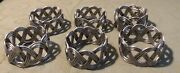 Antique Silver Color Twisted Wire Napkin Rings Set Of 6