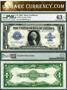 1923 1 Silver Certificates Fr-238and039s Consecutive Pair Pmg Cu63epq