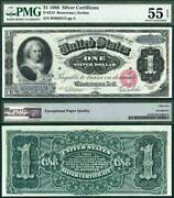 1886 1 Silver Certificate Fr-215 Pmg Graded About Uncirculated 55 Epq