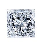 Certificate 1.52ct Princess Excellent Cut Diamond With G Color And I1 Clarity
