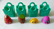 Shopkins Season 3 Lot Of Four Collectable Figurines Genuine, Discontinued