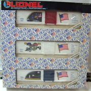 Lionel 6-19599 The Old Glory Series 3 Box Cars   New