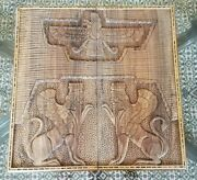 Persian Handmade Wooden Carved Backgammon Game Board Playing Set 19x9.5x3
