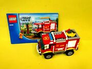 2012 Lego City 4208 Firetruck W/2 Figures And Instructions-missing A Few Pieces