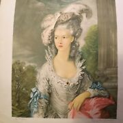 """Thomas Gainsborough1727-1788""""hon.mrs Graham And Sisters""""hand Signed,double Picture"""
