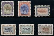 Greenland 22a-27a 22-7v Complete Set Wrong Color Ovpts Nh Scott 2900.00