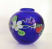 Stunning Orient And Flume Art Glass Vase Alexanderstrawberries Limited Edition