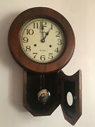 Vintage Tradition Wall Chimes/pendulum Clock For Parts Or Repair.