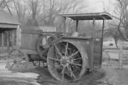 Advance-rumely Tractor On Farm In Emmet County Iowa Ia 1936 View 8x12 Photo