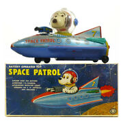 1960s Snoopy Space Patrol In Box Robot Battery Toy Modern Toys Japan Rare