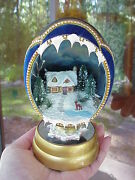 Hand Decorated Real Emu Egg Lighted Collectible Decoration Deer Lake Cottage