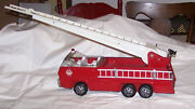 Tonka Pressed Steel Fire Truck Extension Ladder Original Condition Heavy Large