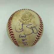 2001 World Series Game 1 Game Used Baseball Signed By Curt Schilling Steiner Coa