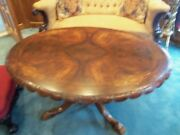 Antique English Mourning Oval Tilt Top Table Victorian