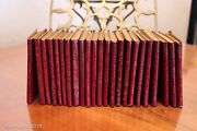 Set Of 23 Antique Little Leather Library Luxart Books