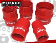 Jdm Sport 2 Od Hump Hose Bellow Silicone Coupler Pipe Tube Intercooler Turbo Rd