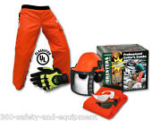 Chainsaw Safety Chaps With Forestry Helmet Chainsaw Gloves And Safety Glasses