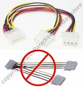 Lot50 8in Cd/hd Drive Power Y Splitter 4pin Male2female Adapter Cable/cord