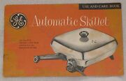 Ge General Electric Automatic Skillet Fryer C110 Cook Book Recipe Manual Booklet