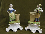 Beautiful Early 19th C 1830 French Paris Porcelain Figurines Couple 245cm