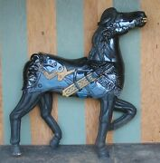 Carousel Horse Full Size Medieval War Horse Large And Hand Carved