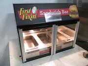 Wisco Commercial Counter-top Lighted Heated 3 Well Nsf Hot Food Display Case