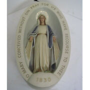 New Catholic Church Miraculous Medal Relief Statue 30 - Free Shipping