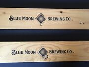 Blue Moon Brewing Co. - Wooden Beer Signs - Classic Logo - Sold Individually