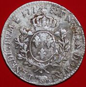 France Silver Ecu 1772 Louis Xv Issued For Province Of Bearn Mint Pao Km55 W388