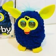 Furby A Mind Of It's Own 2012 Indigo Blue Yellow Interactive Pet Tested Works