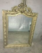 Large Antique French Mantel Mirror 19th. Louis Xv Style