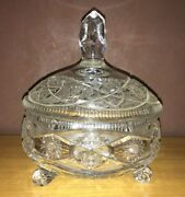Rare Antique Baccarat Crystal Candy Dish