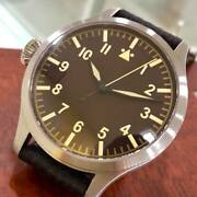 Rare Limited 200pcs Azimuth Bombardier Big Dial 47mm Left Auto Watch Swiss Made