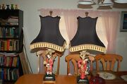 2 High End Chelsea House Lamps Oriental Design , Lower 48 Free Shipping