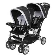Baby Trend Sit-n-stand Twin Tandem 2-seat Double Stroller, Stormy Open Box