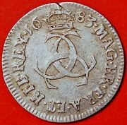 3 Pence 1683 Carolus Ii Great Britain Silver Maundy Coinage C508
