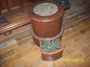 Antique Bed Steppottychamber Potstool- Commode Embroidered 19 Century