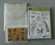 Stampin' Up Butterfly Basics Stamp Set + Butterflies Thinlits + Wood Butterfly