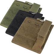 Condor Ma30 Tactical Molle Admin Pouch Hook And Loop W/ Flashlight Panel Holder