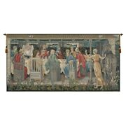 The Round Table No Border European Tapestry Wall Hanging H 53 X W 105