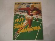 1937 Hart Schaffner And Marx Fashion Catalog - Excellent Condition - Ofc-1