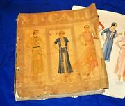 Vtg May 1931 Antique Fashions Mccalls Color Counter Catalog Of Sewing Patterns