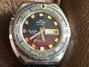 Rare Royce Automagic Leadership Automatic 25 Jewels Diver Watch, Day / Date 2066
