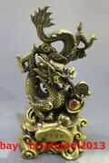 16 Chinese Brass Wealth Fengshui Animal Money Coin Lucky Dragon Dragons Statue