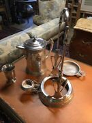 Antique American Silverplate Tilting Water, Or Lemonade ,stand,goblet,saucer