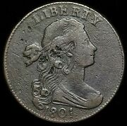 1801 Draped Bust Large Cent Mint Error 1/000 Scarce Variety Lc056