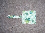 Longaberger Handle Gripper, Small, In Lots Of Luck Fabric New