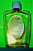 Vintage Mid Century French Lace Perfume Bottle By Bourjois Of New York
