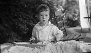 1920s Young Boy Old Metal Toy Cars Original Photo Negative