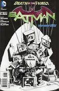 Batman 14 New 52 Death Of The Family Signed Capullo 1100 Sketch Variant 2013